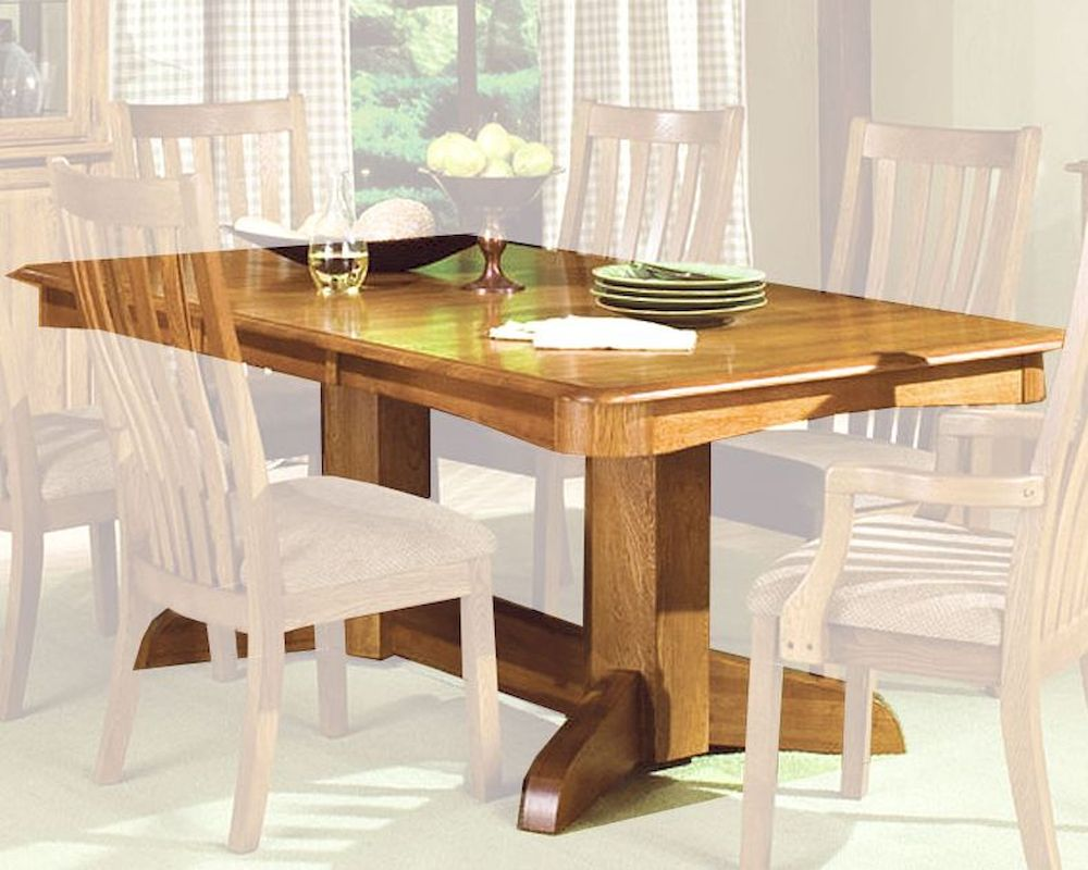 Intercon Solid Oak Trestle Dining Table Highland Park
