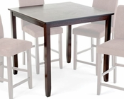 Intercon Solid Rubberwood Counter Height Table The Loft INLFX4040GTAB