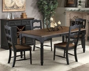 Intercon Solid Rubberwood Dining Set Princeton INPN4278SET