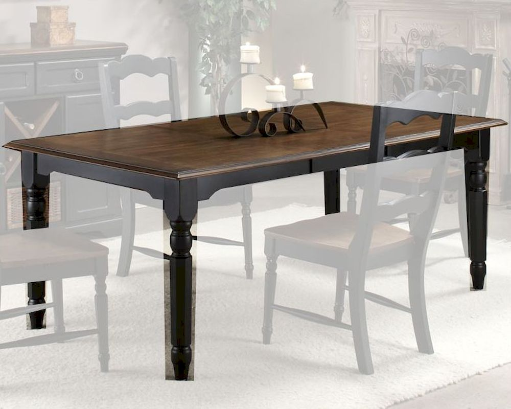 Intercon Solid Rubberwood Dining Table Princeton INPN4278TAB