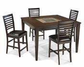 Intercon Solid Wood Counter Height Dining Set INKI5454GSET