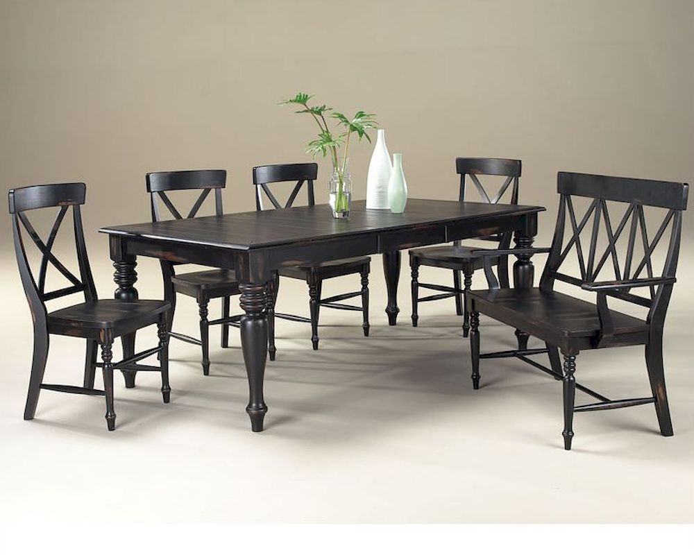 Intercon solid wood dining set roanoke inrn4478set for Hardwood dining table