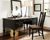 Intercon Solid Wood Executive Writing Desk Gramercy Park INGPHO6430ED