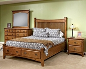 Intercon Storage Bedroom Set Pasadena Revival INPR5450STSET