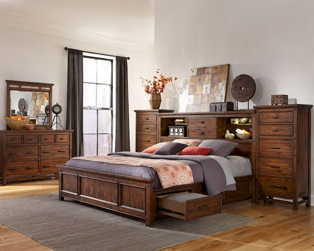 Intercon storage bedroom set wolf creek inwk br 6190set - California king storage bedroom sets ...