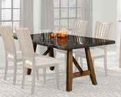 Intercon Trestle Table w/ Stone Top Lucca INLU-TA-4272-RBS-C