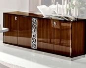Italian 4 Door Buffet in Walnut Roma 33227RO