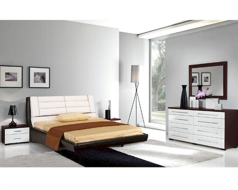 Italian bedroom set modern style 33b231 for Modern chic furniture