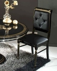 Italian Classic Black Leather Dining Chair 44DSC-4 (Set of 2)