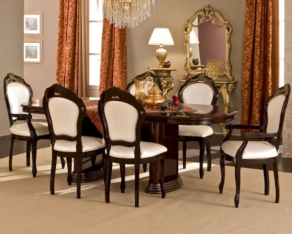 classic style dining set made in italy 33d491. Black Bedroom Furniture Sets. Home Design Ideas