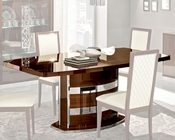 Italian Dining Table w/ Extension in Walnut Roma 33221RO