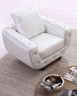 Italian Leather Chair in White Finish 33SS304