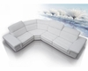 Italian Leather Sectional Sofa Set w/ Built-In iPhone Dock 44L6061
