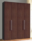 Italian Modern 4 Door Wardrobe in Brown Finish 33B229