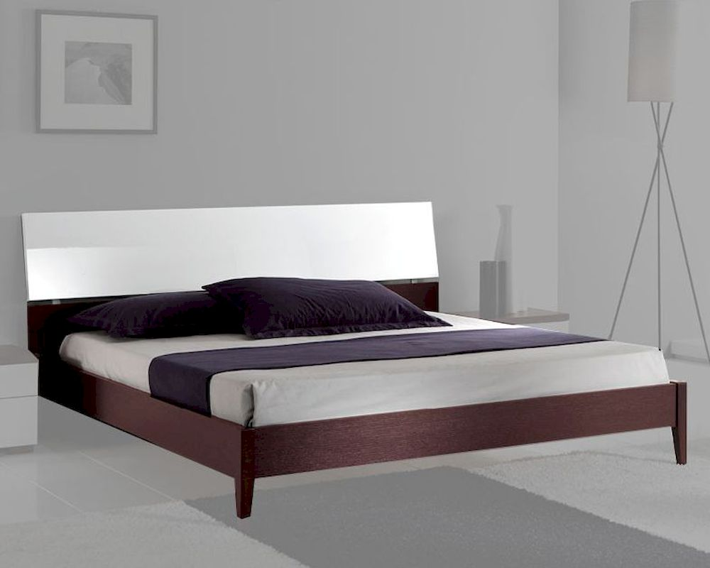 Italian modern two tone platform bed 33b222 for Contemporary beds