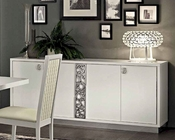 Italian White 4 Door Buffet Roma 33227RM