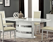 Italian White Dining Table w/ Extension Roma 33221RM