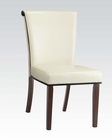 Ivory Finish Side Chair Jafar by Acme Furniture AC71535 (Set of 2)
