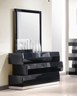 J&M Milan Dresser & Mirror in Black JM-SKU176871DRM
