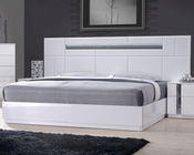 J&M Queen/King Platform Bed Palermo JM-SKU17853BED