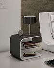 J&M Wave Nightstand in White JM-SKU178361NST