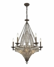ELK Jausten 10 Light Chandelier in Antique Bronze EK-11785-5-5