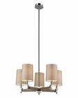 ELK Jorgenson 5 Light Chandelier in Taupe Wood and Polished Nickel EK-31337-5