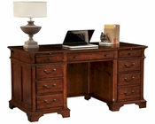 Junior Executive Desk in Weathered Cherry by Hekman HE-79280