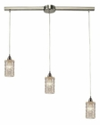 ELK Kersey Collection 3 Light Chandelier in Satin Nickel EK-10343-3L
