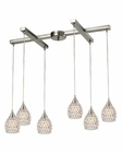 ELK Kersey Collection 6 Light Chandelier in Satin Nickel EK-10341-6