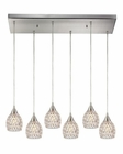 ELK Kersey Collection 6 Light Chandelier in Satin Nickel EK-10341-6RC