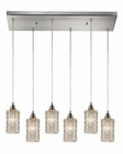 ELK Kersey Collection 6 Light Chandelier in Satin Nickel EK-10343-6RC