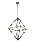 ELK Laboratory 6 Light Chandelier in Weathered Zinc With Bulb included EK-66894-6B
