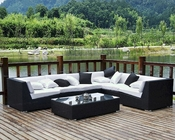 Lambid Patio Sectional Set in Espresso White by Modway MY-EEI730