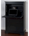 Laptop Armoire Vintage Black by Sunny Designs SU-2849VB