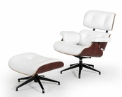 Leather Lounge Chair w/ Ottoman in Contemporary Style 44LG015