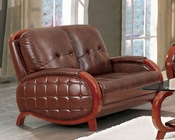 Leather Loveseat European Design 33SS203