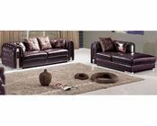 Leather Modern Style Sofa Set 33SS371