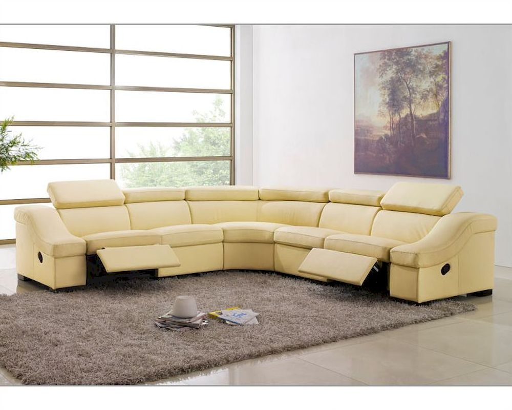 Leather Reclining Sectional Sofa Set ESF8021
