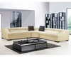 Leather Sectional European Design Light Beige Finish 33LS191