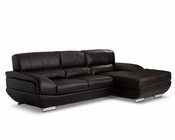 Leather Sectional Sofa in Contemporary Style 44L6019