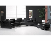Leather Sectional Sofa & Ottoman in Contemporary Style 44L6043