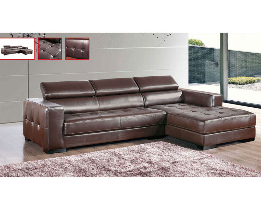Leather Sectional Sofa Set European Design 33ls171