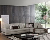 Leather Sectional Sofa w/ Built-in iPhone Dock & Speakers 44L6090