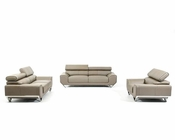 Leather Sofa Set in Modern Style 44L5955