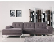 Left Facing Grey Fabric Sectional Sofa in Contemporary Style 44L6106