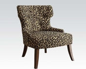 Leopard Fabric Accent Chair by Acme Furniture AC59188