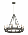 ELK Lewisburg 12 Light Chandelier in Malted Rust EK-31821-12