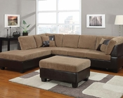Light Brown Sectional Sofa Set Connell by Acme Furniture AC55945SET