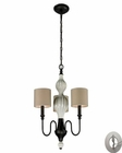 ELK Lilliana 3 Light Chandelier in Cream and Aged Bronze With Adapter Kit EK-31373-3-LA